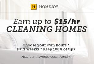Homejoy.com Is Hiring Experienced Housekeepers!