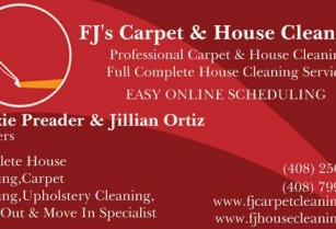 FJ Carpet & House Cleaning NOW HIRING Carpet & House Cleaners (We Service the Entire Bay Area )