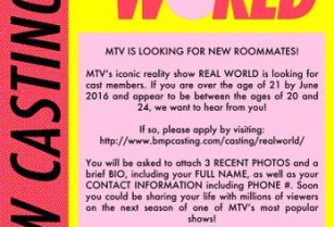 MTV\'s Real World is NOW CASTING!! (PHILADELPHIA, PA)