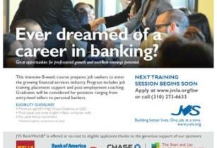Free Bank Career Training and Job Placement November 21, 2016