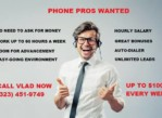 LOOKING FOR MOTIVATED PHONE PROS, APPOINTMENT SETTERS, TELEMARKETERS (Los Angeles)