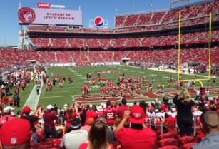 San Francisco 49ers 2017 Season; Game Tickets – Lower Level – $125 (Section 129, Row 20)  hide this posting