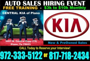 AUTOSales #1 Import KIA Dealer is HIRING * $9000 Guarantee …. (Interview – February . 26th . 27th . 28th)