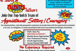 TALENTED TALKERS NEEDED!!! $500 SIGN-ON BONUS (Fort Worth, TX)  hide this posting