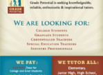 *****TUTORS NEEDED – FOR ALL SUBJECTS, ALL AGES***** (entire GREATER Philadelphia Area)